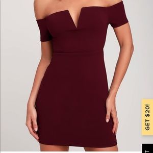Lulu Burgundy Party dress 👗
